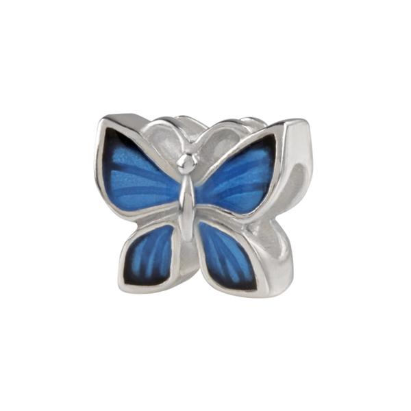 Conta SILVERADO Borboleta Azul ENB047-BL03