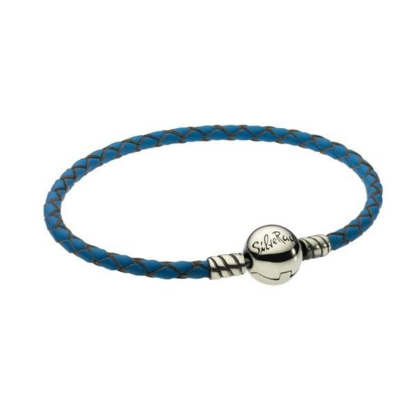 Pulseira SILVERADO Couro Azul 19 Cm LB4182-19BL