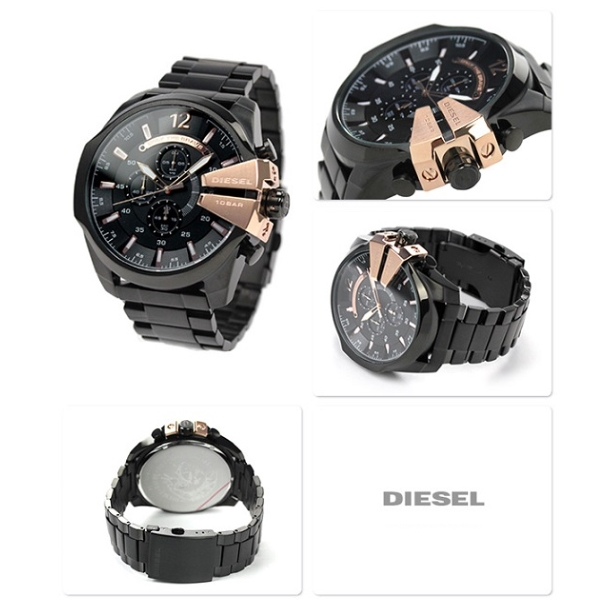 Relógio DIESEL Mega Chief Black Rose Gold DZ4309