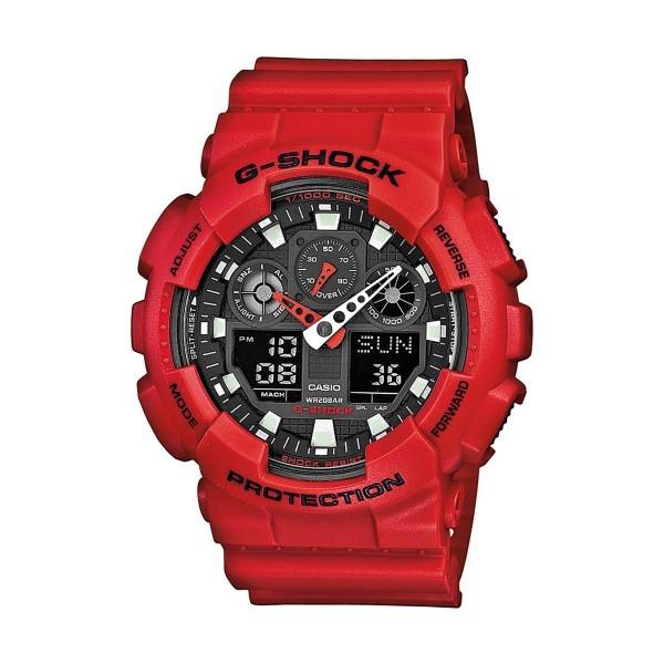 Relógio CASIO G-SHOCK Vermelho GA-100B-4AER