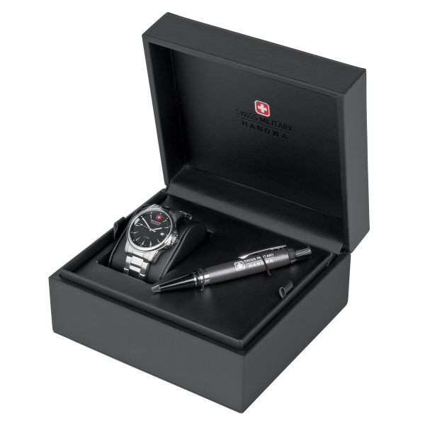 Gift Set Relógio SWISS MILITARY Recruit Prime Preto SM06801004007