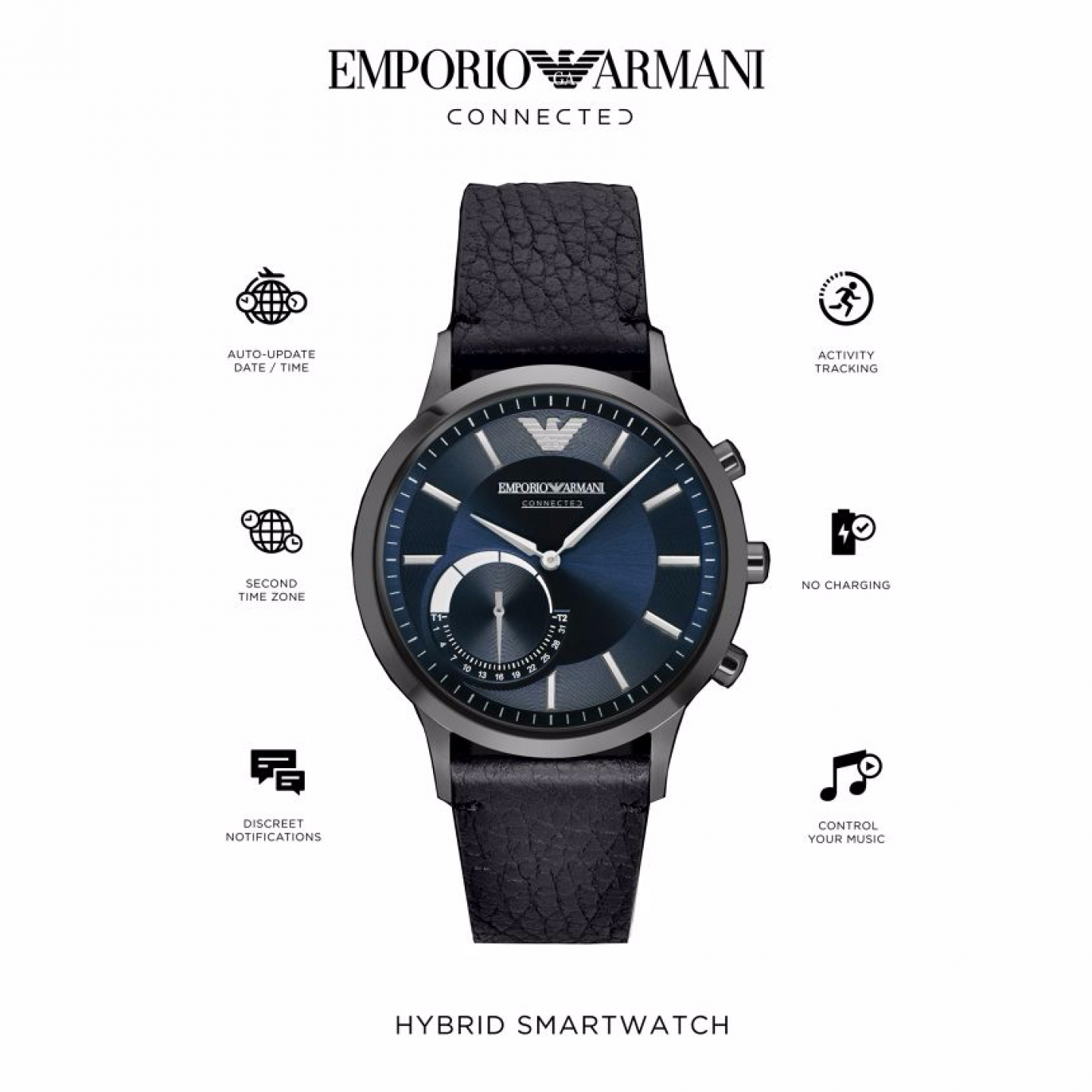 fe97d1afb4c Relógio inteligente EMPORIO ARMANI Connected(Smartwatch) - ART3004 ...
