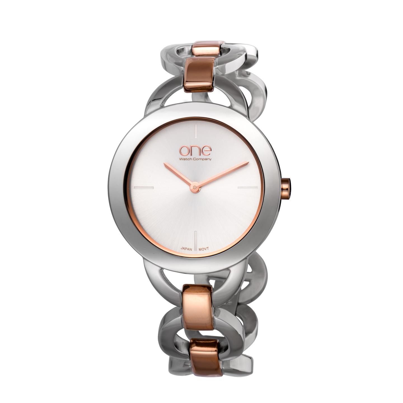 Relógio ONE Mood Prateado e Ouro Rosa