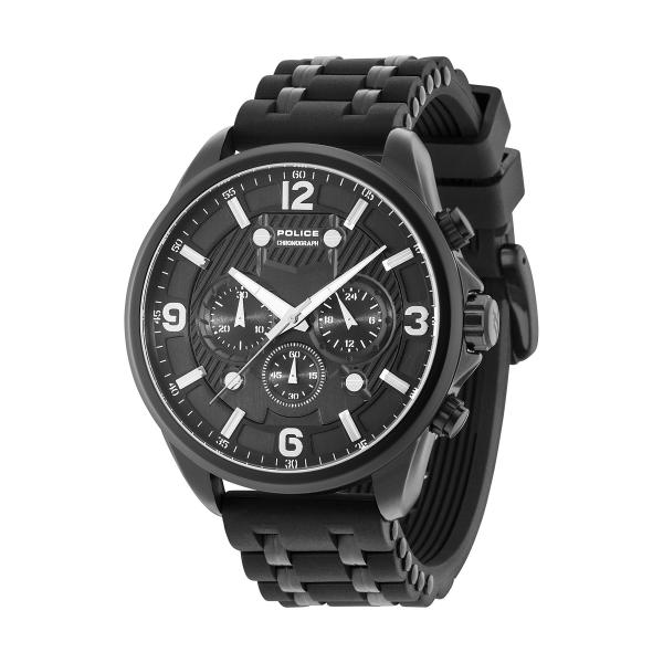 Relógio POLICE Claymont Black P15218JSB02P