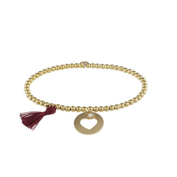 Pulseira UNIKE Five Wishes Burgundy UK.PU.0117.0052