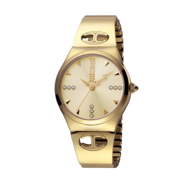 Relógio JUST CAVALLI Logo Dourado JC1L027M0055