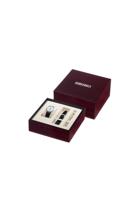 Gift Set Especial Relógio SEIKO Presage Preto