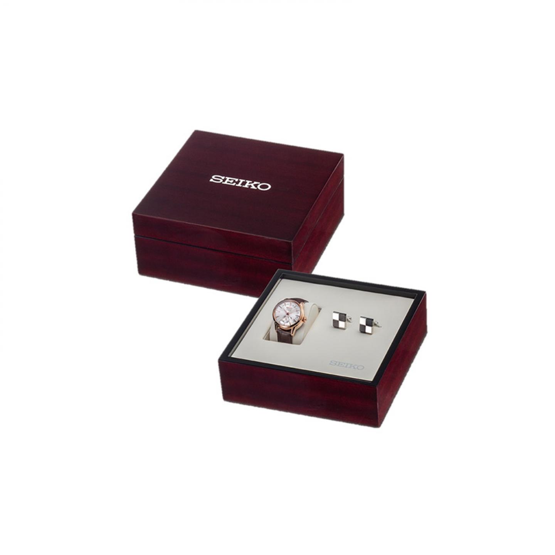 Gift Set Especial Relógio SEIKO Presage Castanho