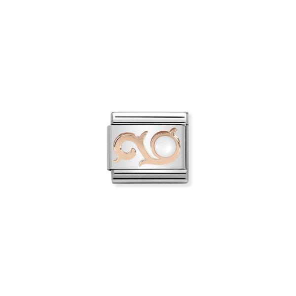 Charm Link NOMINATION Swirl com Pérola 430503-01