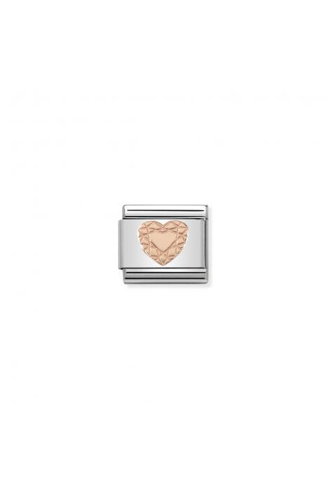 Charm Link NOMINATION Coração Diamante