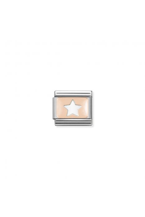 Charm Link NOMINATION Estrela Ouro Rosa