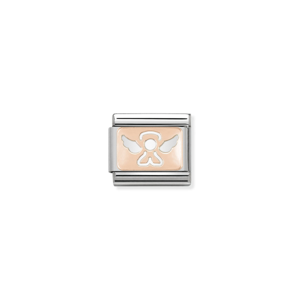Charm Link NOMINATION Anjo Ouro Rosa 430101-14