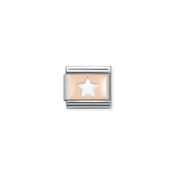 Charm Link NOMINATION Estrela Ouro Rosa 430101-09