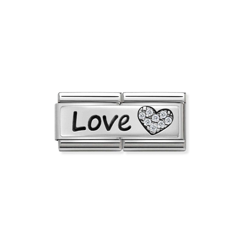 Charm Link NOMINATION Love Coração