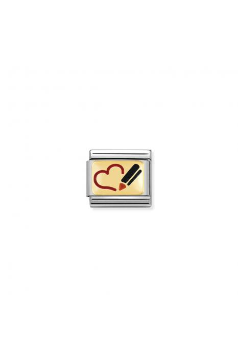 Charm Link NOMINATION Coração Desenhado