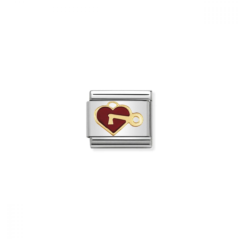 Charm Link NOMINATION Coração com Chave
