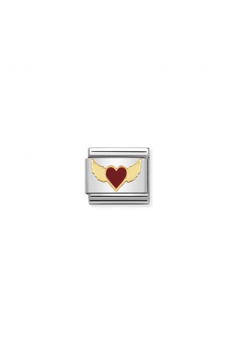 Charm Link NOMINATION Coração Vermelho com Asas