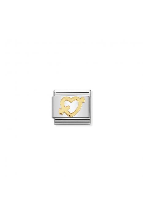 Charm Link NOMINATION Coração e Seta