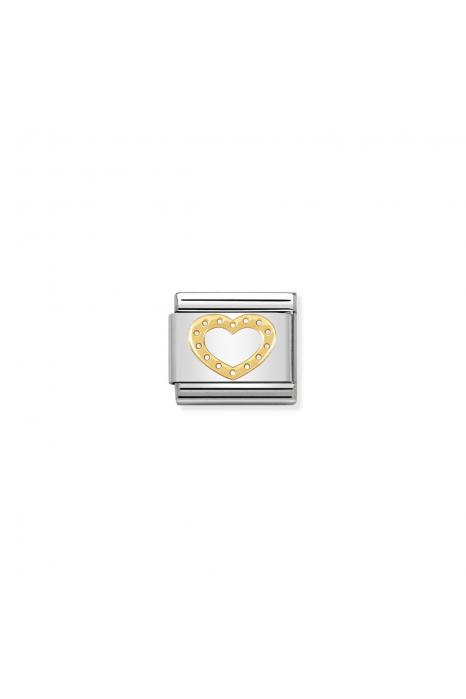 Charm Link NOMINATION Coração com Pontos