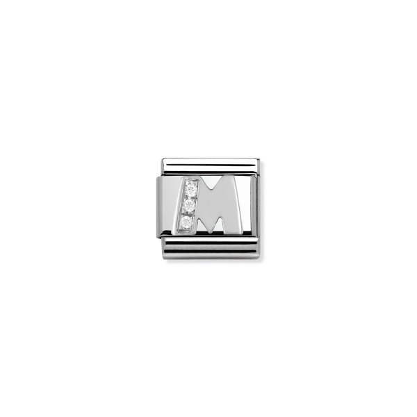 Charm Link NOMINATION Letra M Silver 330301-13