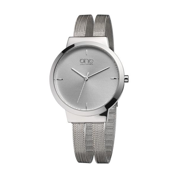 Relógio ONE Dual Prateado OL7617SS72L