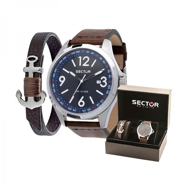 Gift Set SECTOR Relógio 180 e Pulseira R32511800211