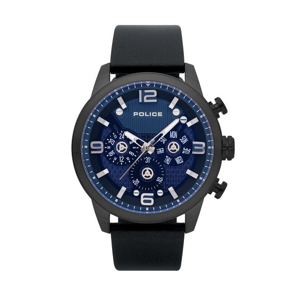 Relógio POLICE Kye West Preto e Azul P15415JSU03