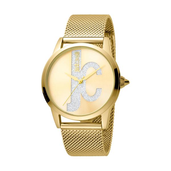 Relógio JUST CAVALLI  Logo Dourado JC1L055M0065