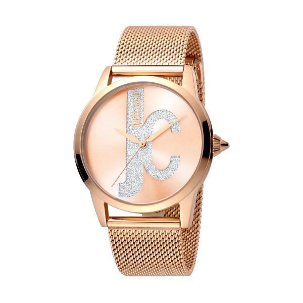 Relógio JUST CAVALLI  Logo Rosa JC1L055M0075