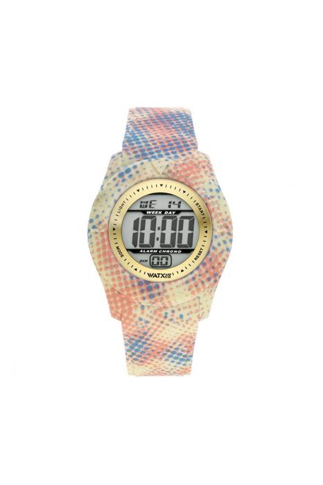 Bracelete WATX XS Smart Pixel  Amarelo, Azul e Coral