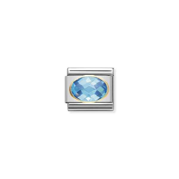 Charm Link NOMINATION Pedra Azul claro 030601-006