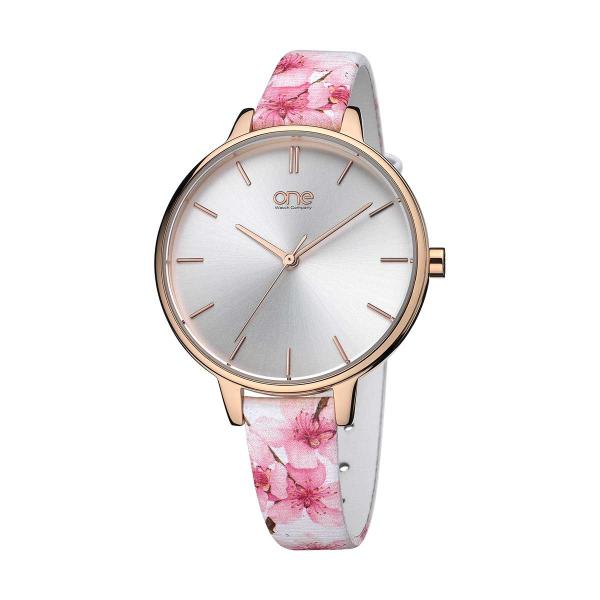 Relógio ONE  Blossom Branco e Rosa OL0369RF81W