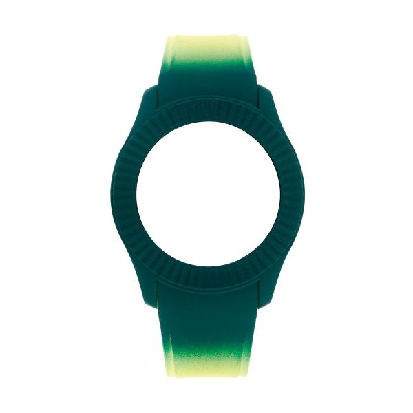 Bracelete WATX Silicone Smart Psicotropical Verde e Amarelo COWA3096