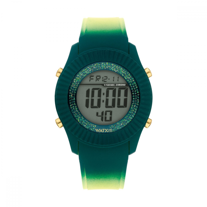 Bracelete WATX Silicone Smart Psicotropical Verde e Amarelo
