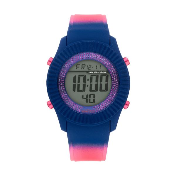 Bracelete WATX Silicone Smart Psicotropical Rosa e Azul COWA3097