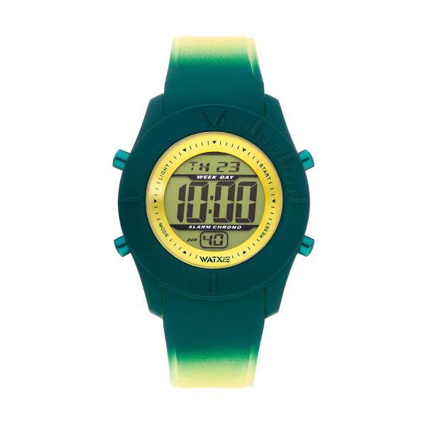 Bracelete WATX Silicone Smart Psicotropical Amarelo e Verde COWA3596