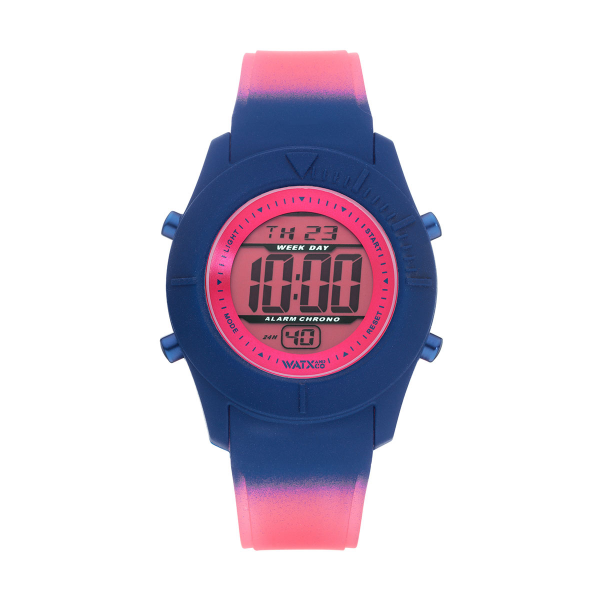 Bracelete WATX Silicone Smart Psicotropical Rosa e Azul COWA3597