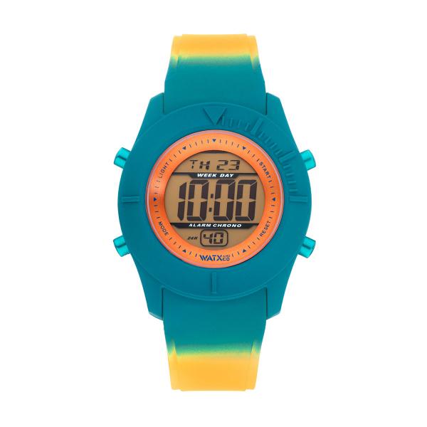 Bracelete WATX Silicone Smart Psicotropical Laranja e Azul COWA3598