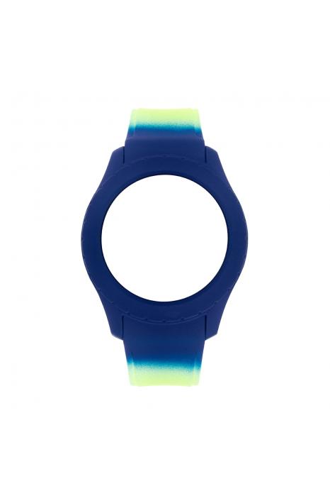 Bracelete WATX Silicone Smart Psicotropical Azul e Verde