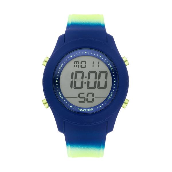 Bracelete WATX Silicone Smart Psicotropical Azul e Verde COWA3796