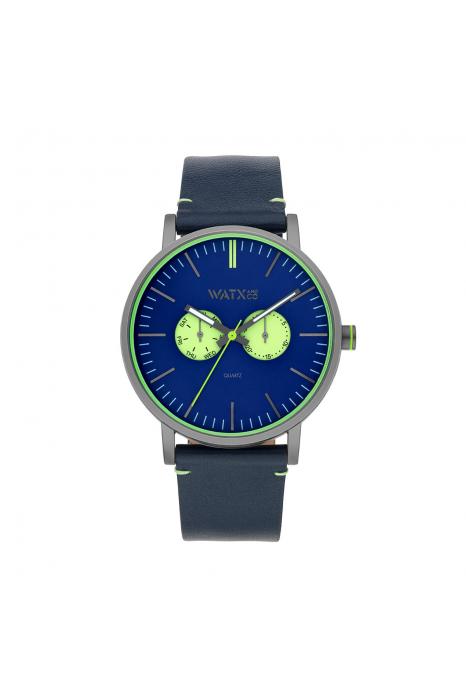 Bracelete WATX Leather Psicotropical Azul