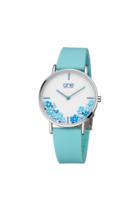 Relógio ONE COLORS Floral Azul