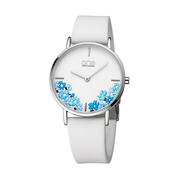 Relógio ONE COLORS Floral Branco OM7779AB81L