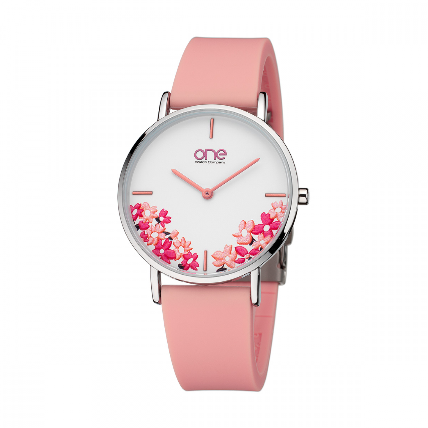 Relógio ONE COLORS Floral Rosa