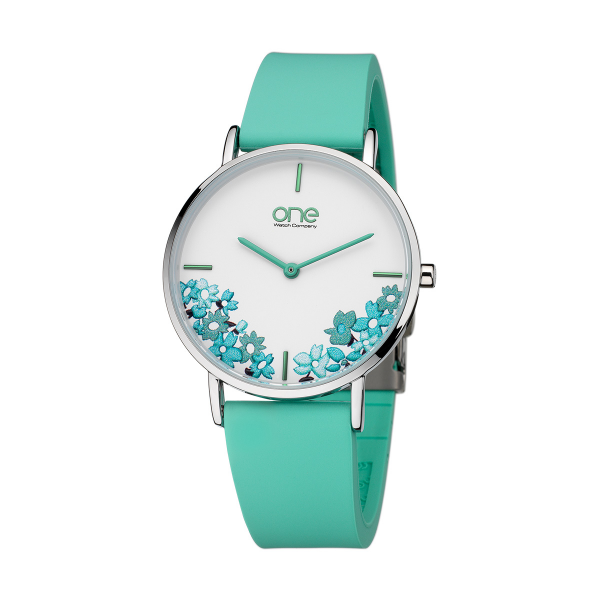 Relógio ONE COLORS Floral Verde OM7779VV81L