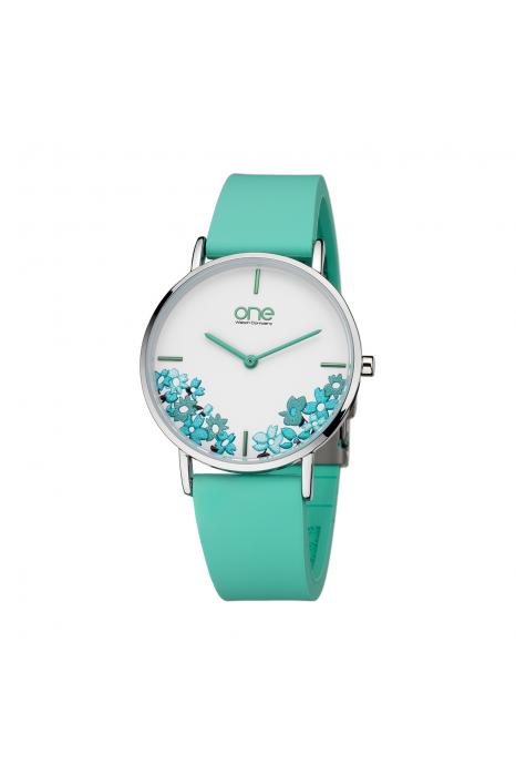 Relógio ONE COLORS Floral Verde