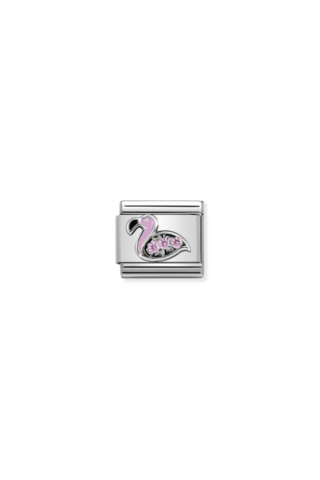 Charm Link NOMINATION Flamingo rosa