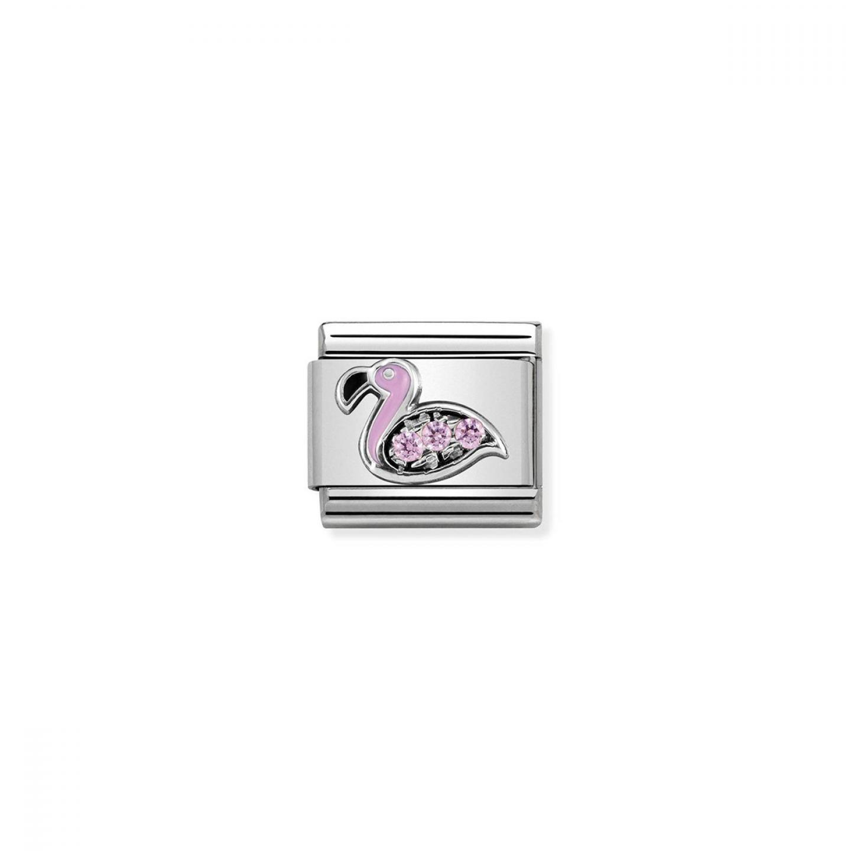 Charm Link NOMINATION Flamingo rosa