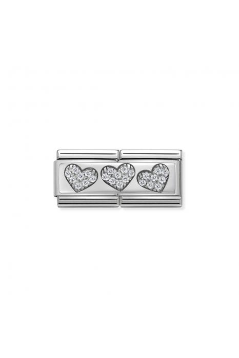 Charm Link NOMINATION 3 corações