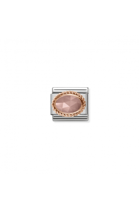 Charm Link NOMINATION Pedra (Apricot chalcedony)